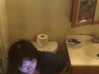 Chinese milf masturbating