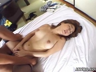 Small titty Asian slut gets slipped a dick in her