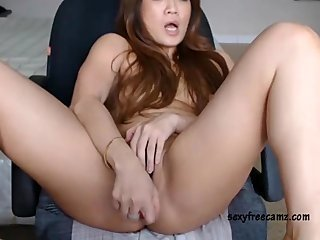 Tight Asian Chick Masturbating With Her Toy