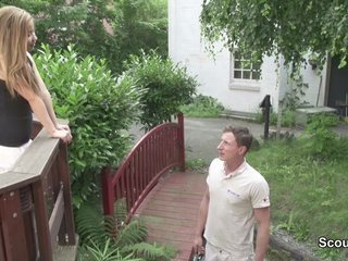 Skinny German Teen Seduce to Fuck outdoor