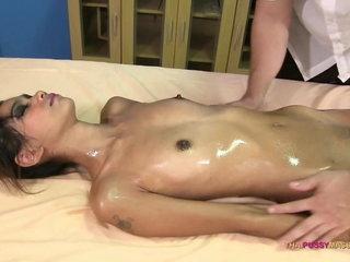 Bony 18 yr Japanese sex nuru massage