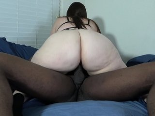 Asian hottie Mia Voyager gets nailed upon a chubby black flannel