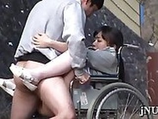 Glorious asian maiden gets poon tang banged