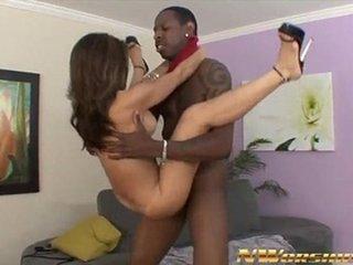 asian girl sucks and rides big black cock into interracial sex fun