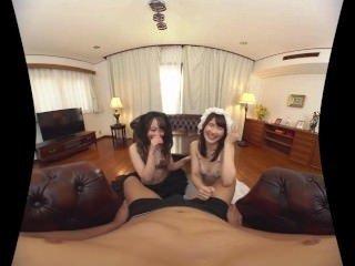 Let's Enjoy Two Japanese Maids Japanese VR Porn
